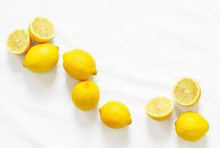 Series of fresh lemons
